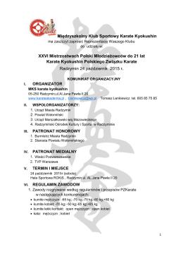 Międzyszkolny Klub Sportowy Karate Kyokushin XXVI Mistrzostwach