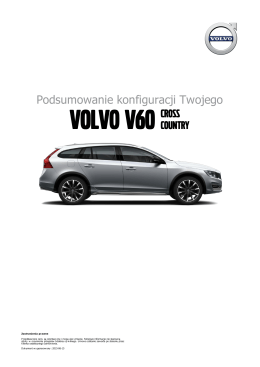 Volvo V60 Volvo V60 Cross