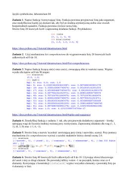 Języki symboliczne, laboratorium 04 Zadanie 1. Napisz funkcję