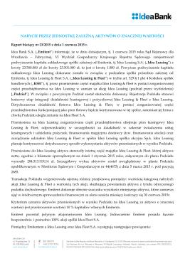 Pobierz plik PDF - Relacje inwestorskie | Idea Bank