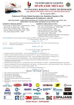 Plakat VII Seminarium. 2015