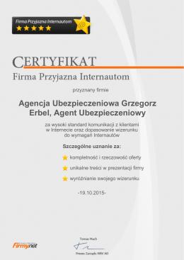 Agencja Ubezpieczeniowa Grzegorz Erbel, Agent Ubezpieczeniowy