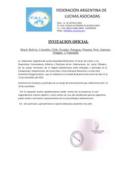 invitación Sudamericano 2015 V3