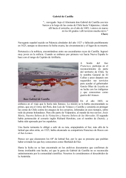 """Gabriel de Castilla """"... navegado bajo el Almirante don Gabriel de"""