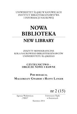 NOWA BIBLIOTEKA - KNB IBiIN UŚ