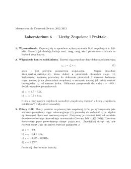 Laboratorium 6 Liczby Zespolone i Fraktale
