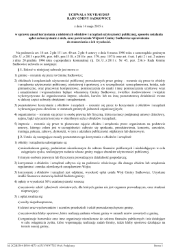 Uchwała  - Gmina Sadkowice