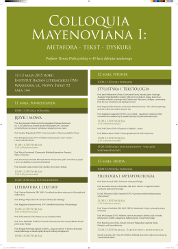 Metafora - tekst - dyskurs - Instytut Badań Literackich Polskiej
