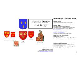 Seigneurs de Donzy & de Vergy - Racines & Histoire