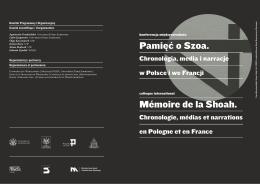 Pamięć o Szoa. Mémoire de la Shoah.