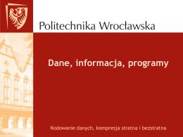 Dane, informacja, programy