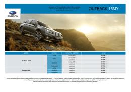 Pobierz arkusz specyfikacji modelu Outback 15MY (cennik