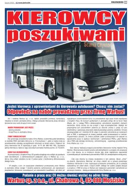 Warbus sp. z o.o., ul. Chabrowa 4, 05-080 Mościska