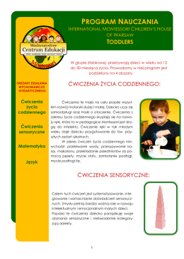 Program Nauczania International Montessori Children`s