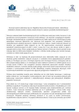 Recenzja pracy doktorskiej (prof. P. Stepnowski)