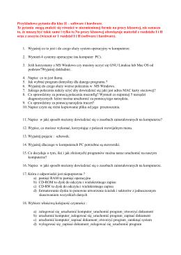 Przykładowe pytania dla klas II – software i