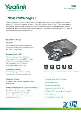 Yealink CP860 Datasheet