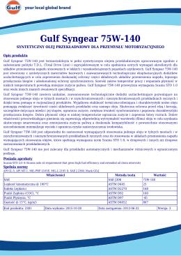 Gulf Syngear 75W-140