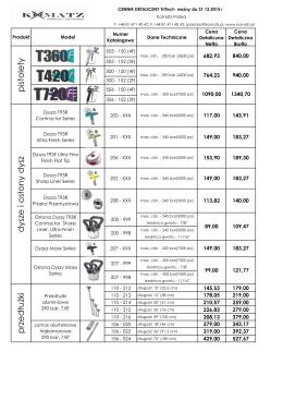 KOMATZ - Cennik Detaliczny Akcesoria 2015 (z nr katalogowymi)