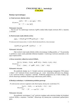 ĆWICZENIE NR 1 - instrukcja 17.04.2015