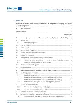 Podręcznik Programu Interreg Region Morza Bałtyckiego