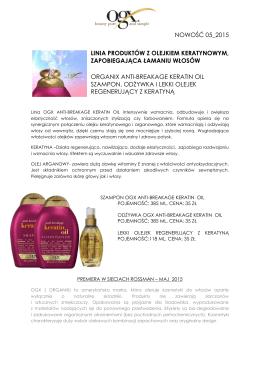 nowość 05_2015 linia produktów z olejkiem keratynowym
