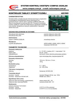 AS1565 Karta techniczna
