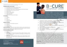 Ulotka informacyjna - Laser leczniczy B-Cure