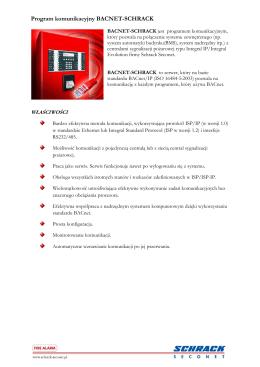 Program komunikacyjny BACNET-SCHRACK