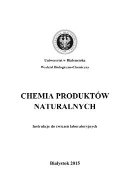 Chemia Produktów Naturalnych - laboratorium