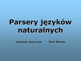 Parsery języków naturalnych