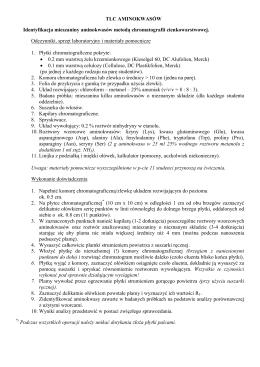 TLC - opis ćwiczenia (procedura)