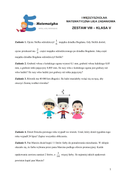 Zestaw VIII klasa 5- pobierz(format pdf)