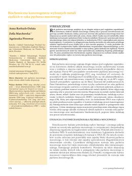 Biochemiczna kancerogeneza wybranych metali ciężkich w raku