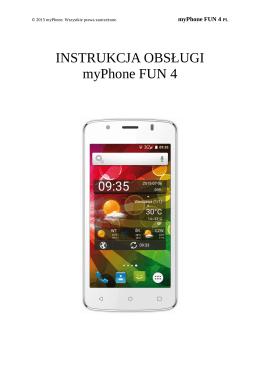 INSTRUKCJA OBSŁUGI myPhone FUN 4