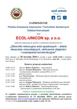 ECOL-UNICON sp. z o.o. - Polskie Zrzeszenie Inżynierów i