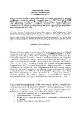 Zarządzenie Nr 1336/15 Prezydenta Miasta Gdańska z dnia 10