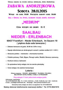 Andrzejki - Saalbau Nieder - Erlenbach 28.11.2015