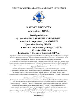Raport końcowy 2209/14 - Portal · dlapilota.pl