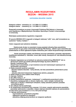 kategoria orlików - regulamin rozgrywek sezon 2014/2015