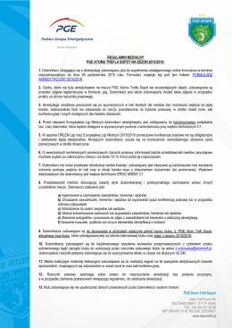 Regulamin medialny PGE Atomu Trefla Sopot na sezon 2015/2016
