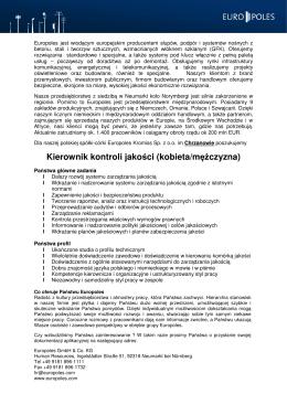 PL - Qualitätsleiter Chrzanow