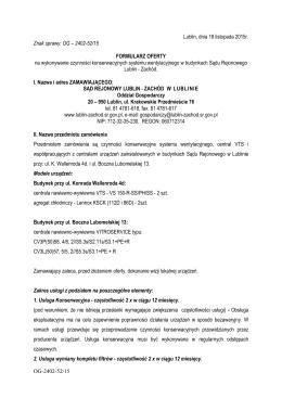 formularz na VTS 2015 - Sąd Rejonowy Lublin