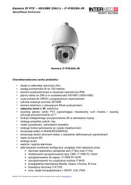 Kamera IP PTZ – HD1080 25kl/s - i7-P3020A