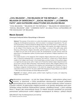 Pełny tekst (Full text) - KONTEKSTY SPOŁECZNE