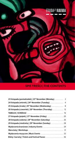 SPIS TREŚCI | ThE ConTEnTS