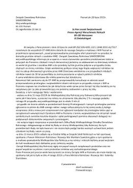 Związek Zawodowy Rolnictwa Poznań,dn.28 lipca