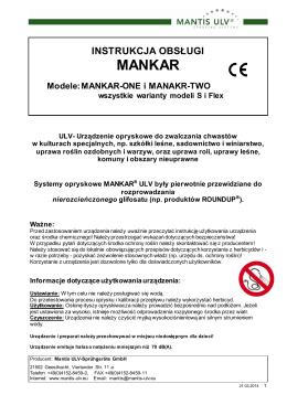 MANKAR - Mantis ULV