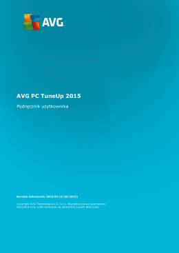 AVG PC TuneUp 2015 User Manual