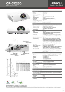 Projektor Hitachi CP-CX250 – ulotka informacyjna w języku polskim